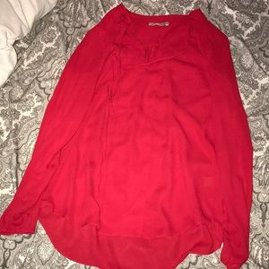 Tops - 🌻Red Blouse. Size M. Like New.
